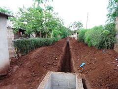 Finished excavations for the sewerage