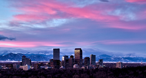 city winter sunset mountains clouds buildings colorado day cityscape cloudy denver hdr cherrycreek 70200mmf4 2011 canon7d tobyharriman