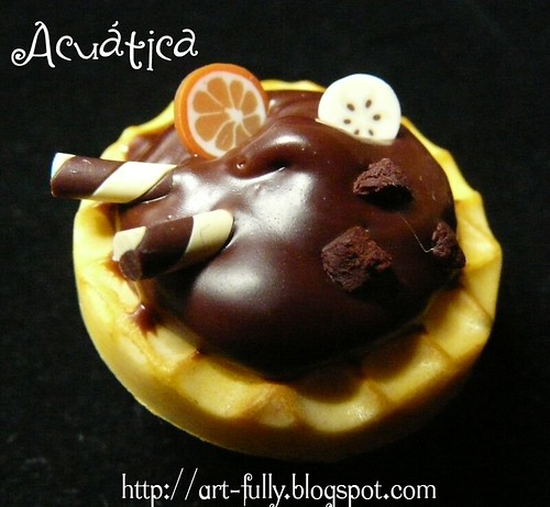 Gofre chocolate, naranja y plátano