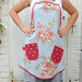 blue floral full apron