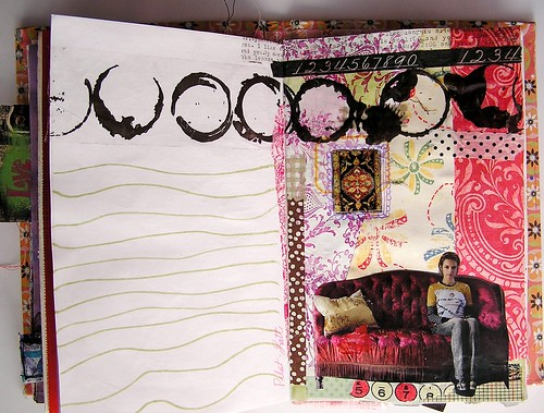 Page One from my Collage Class with Kelly Kilmer