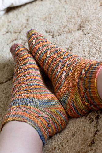 Van Dyke socks: side view