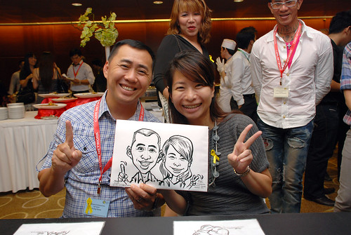Caricature live sketching for SCORE – Yellow Ribbon Celebrating 2nd Chances 2011 - 7