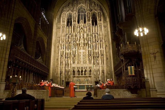 365.98 Choir practicing at St. Thomas Episcopal Church