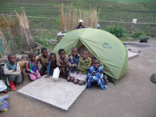 Camping in Lesotho Village