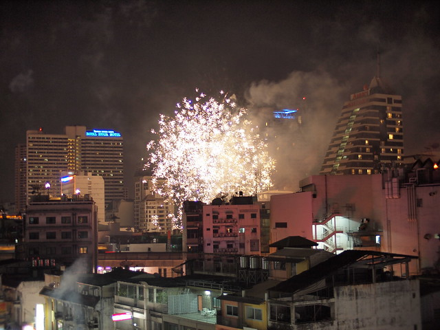 Celebrating New Year 2012 in Bangkok
