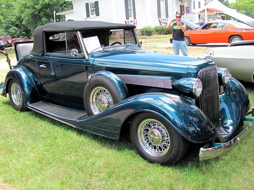 classic car vintage logo virginia automobile antique teal convertible pontiac 1934 hoodornament rumbleseat clarksville runningboard 2011 lakefest mecklenburgcounty