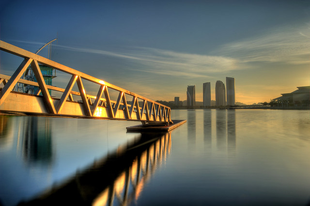 Sunrise over Putrajaya Lakeside