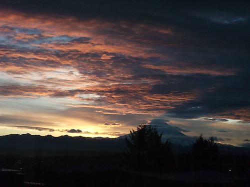 sunrisecloudsskysilhouettemountainmtrainiershadow