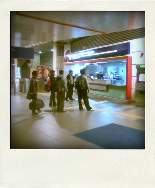 Foreign worker at LRT Station