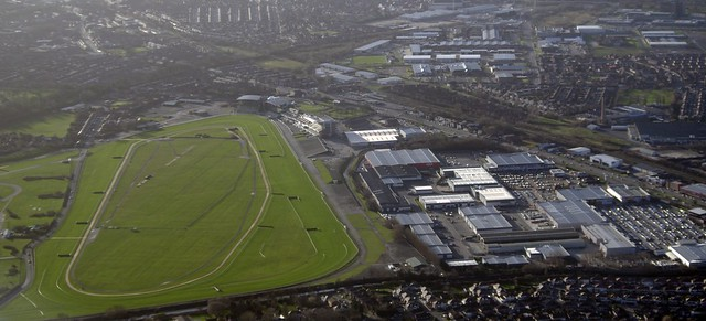 Aintree Race Course, from the air