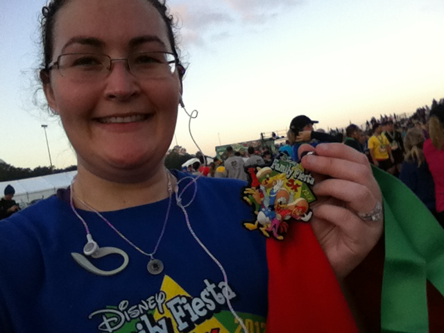 2012 Disney Family Fiesta 5k #runDisney me and my medal.