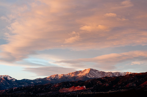 morning clouds colorado coloradosprings pikespeak