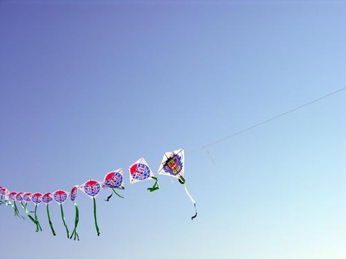 hand made kite train