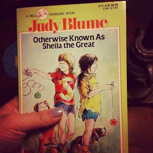 Book #1 for the year. One of the literacy groups I work with is starting it this upcoming week. I squealed when I found out. I love Judy Blume!