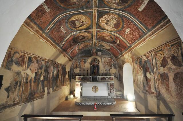 Lentiscosa: frescoes in the capella Santa Maria ad Martyres