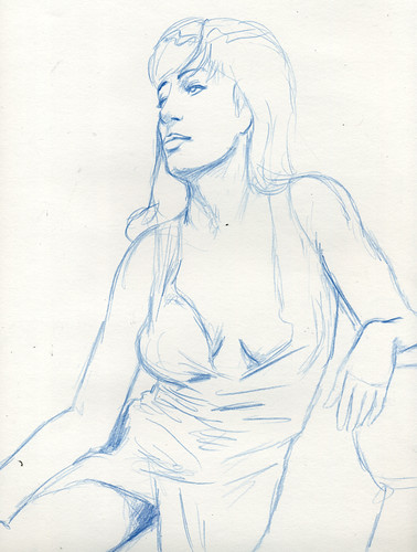 Dr. Sketchy Dallas- Angela Ryan 20 minute sketch