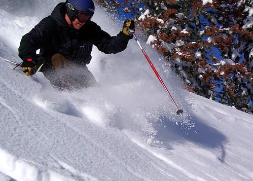 Cory Birkenbuel skiing