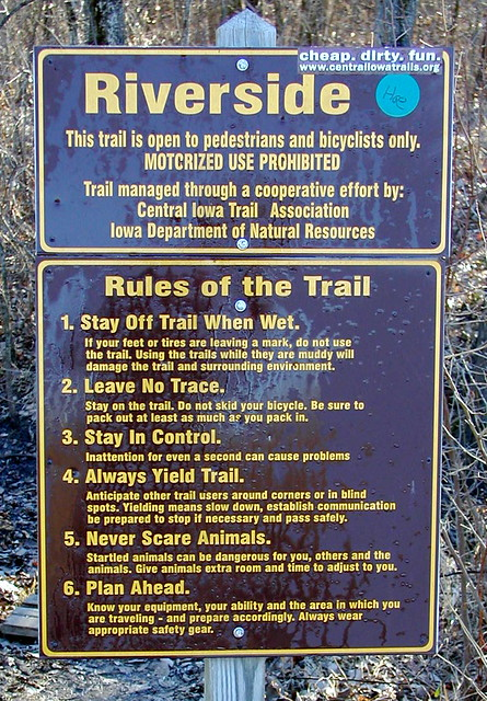 Rule #1 - Stay Off Trail When Wet