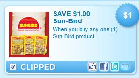 Sun-bird Product. Coupon