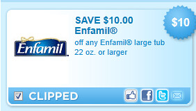 Enfamil Large Tub 22 Oz. Or Larger Coupon