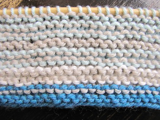 In progress: Sky Scarf (reverse side)