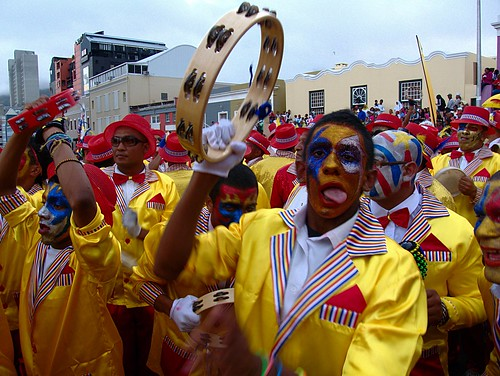 "A scene from the annual ""Kaapse Klopse"" in Cape Town, South Africa."