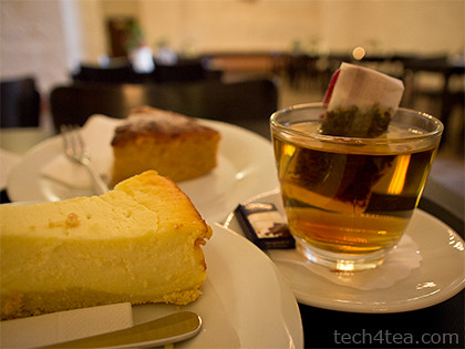 Afternoon tea at the Cafe in the cellar of Heidelberg Castle.
