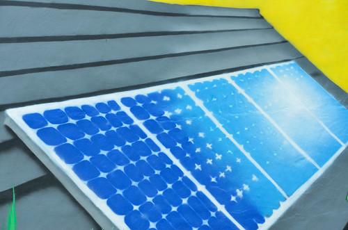 Solar cells mural