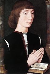 Hans Memling (1475), Hombre joven orando