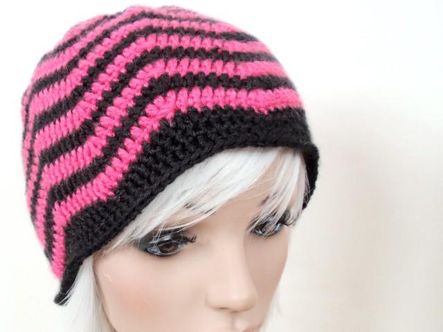 Crochet Zig-Zag Hat