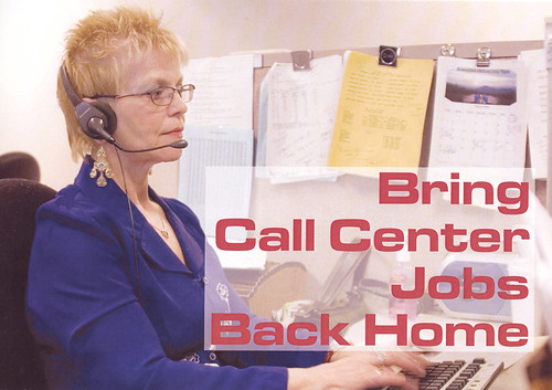 Call Center Postcard