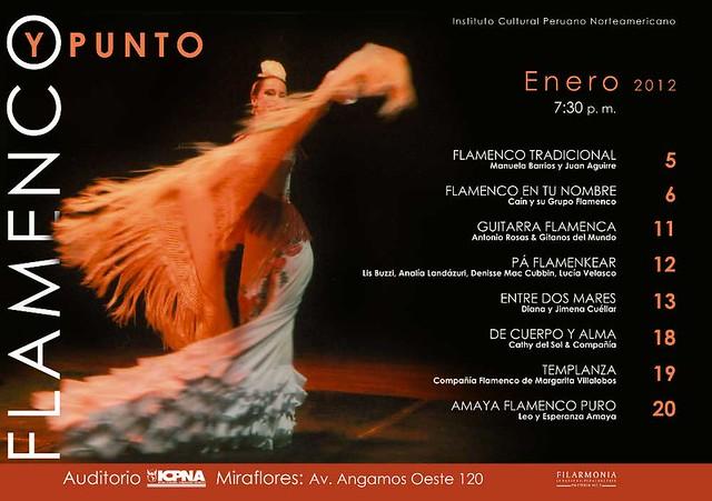 Afiche flamenco y punto 2012