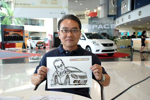 Caricature live sketching for Tan Chong Nissan Motor Almera Soft Launch - Day 3 - 13