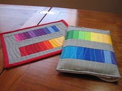 Rainbow Kindle case: Backside
