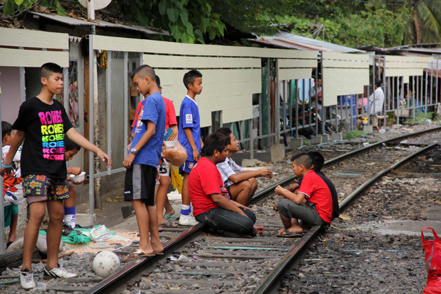 Slum community in Bangkok, Thailand