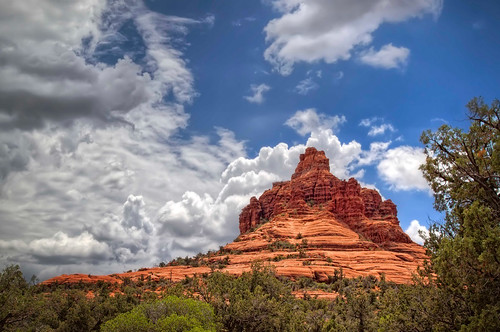 blue light arizona sky clouds bright sedona redrock hutton majestic hdr formations surprising bellrock