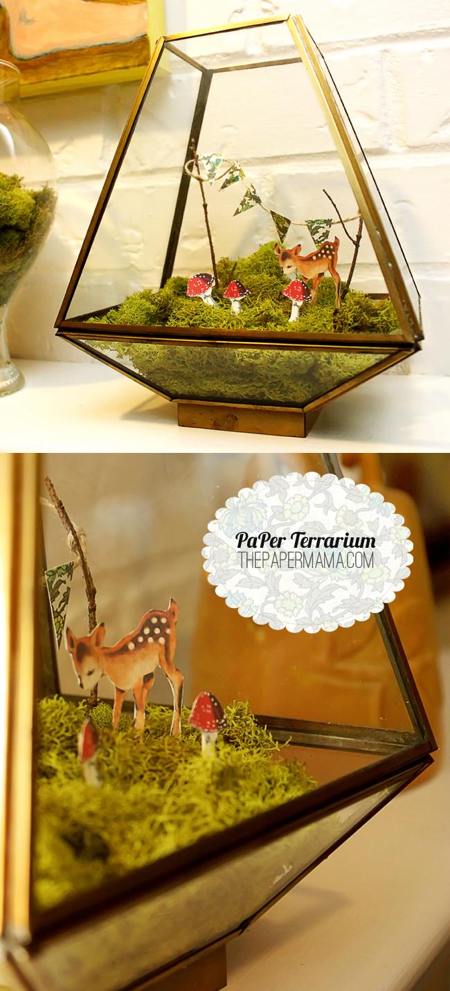 Paper Terrarium Tutorial