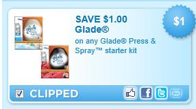 Glade Press & Spray Starter Kit Coupon