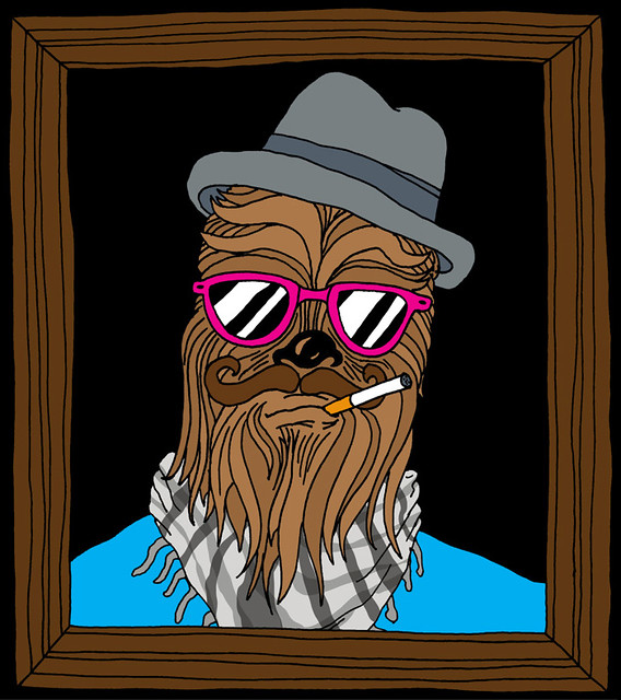 Hipster Wookie by Jay Roeder