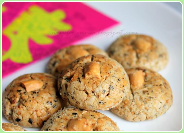 Peanut Sesame Cookies
