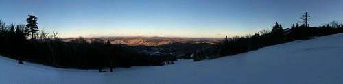 sunset panorama snow mountains vermont afternoon killington snowdonmountain skivt2012