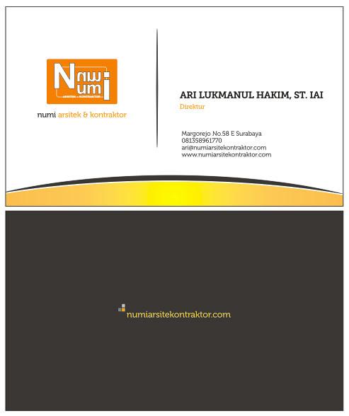 Desain Kartu Nama Numi
