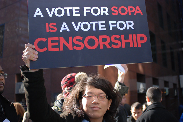thumbnail - #nytmSOS NYC #PIPA #SOPA Protest