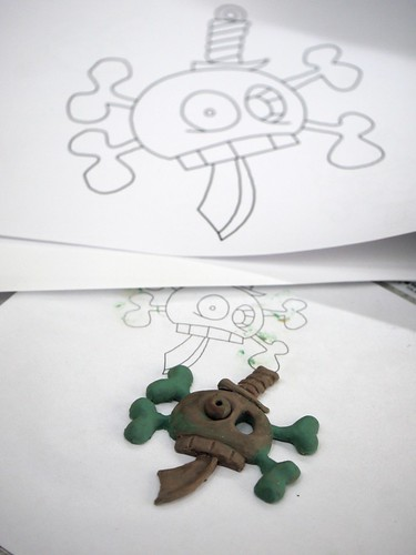 Revised Skull Pendant - Model 1