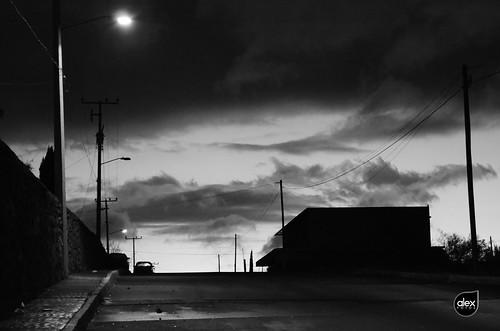 blancoynegro sonora dark mexico atardecer calle nubes nublado santaana crepusculo anochecer oscuro blacjkandwhite alexgrod