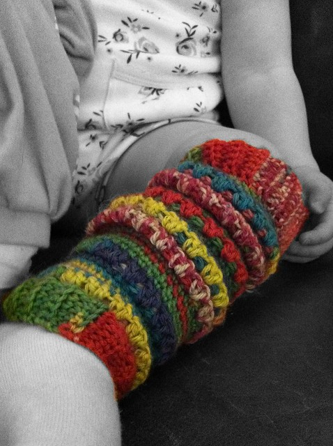 Crocheted baby leg-warmers!