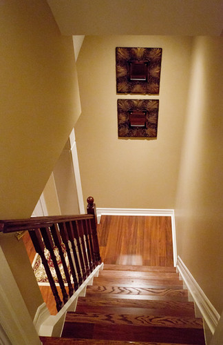 Stairs and Walk Out Finished Basement