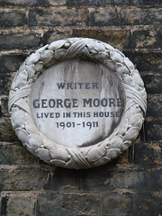 Photo of George Moore white plaque