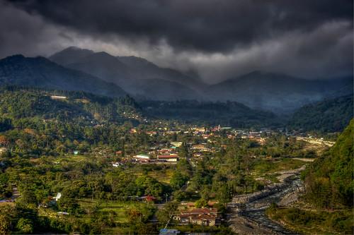 mountain rio river pueblo valle valley boquete panama montañas chiriqui